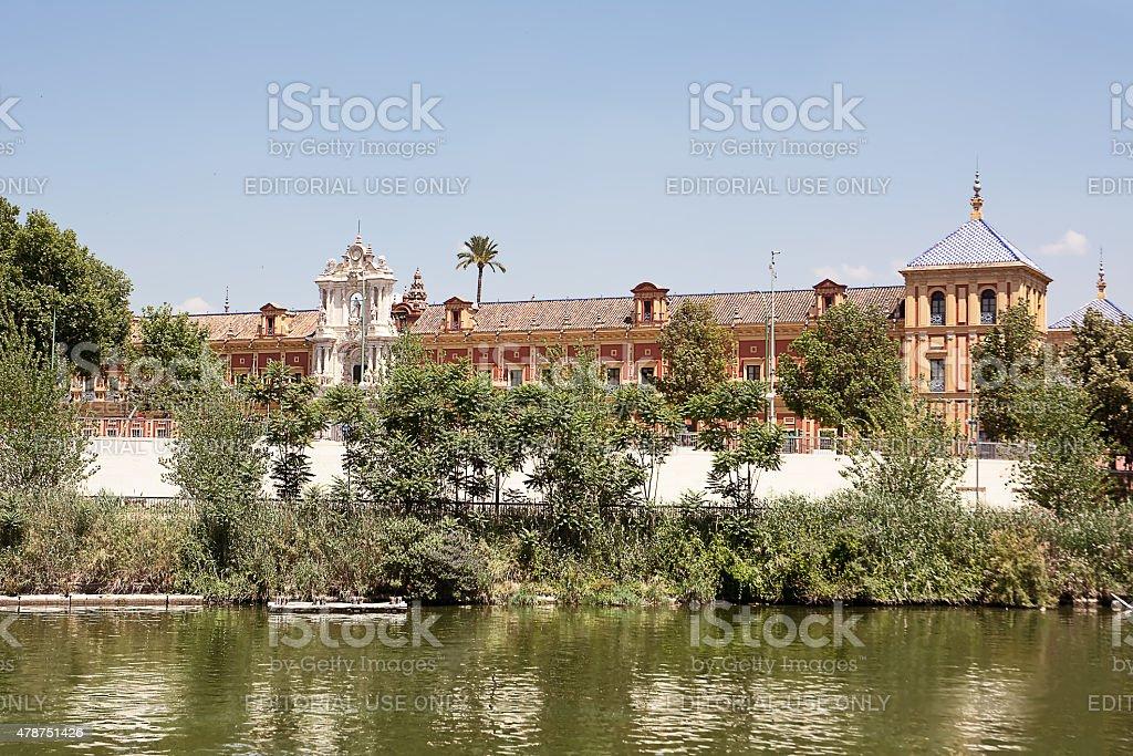 Palace of St. Telmo in Sevilla stock photo