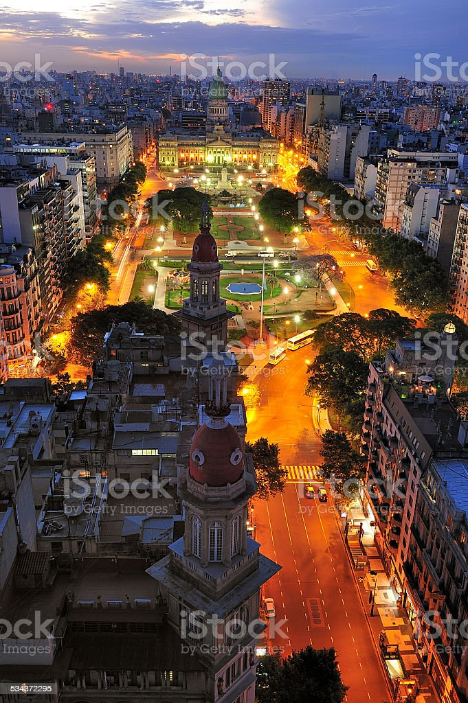 Palace of the Argentine National Congress, Buenos Aires, Argentina stock photo