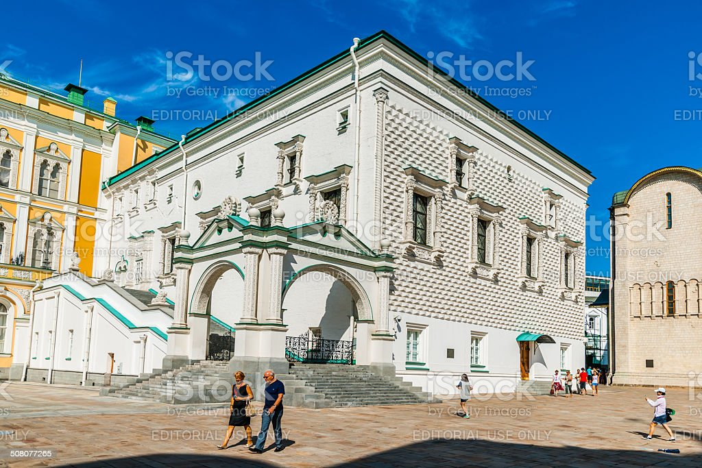 Palace of the Facets of the Kremlin stock photo