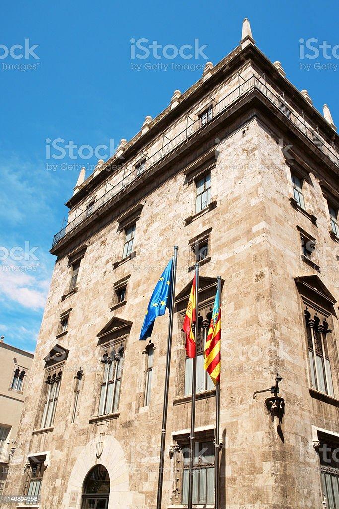 Palace of the Generalitat Valenciana stock photo