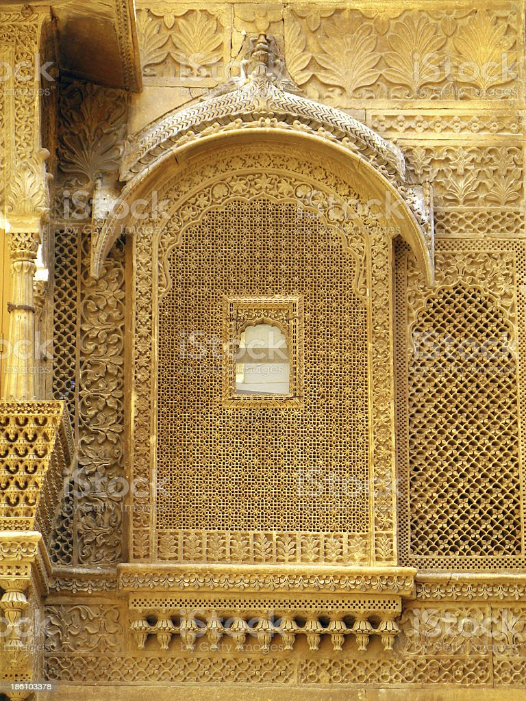 Palace of the Maharajah in Jaisalmer, magnificent 'Golden City' royalty-free stock photo