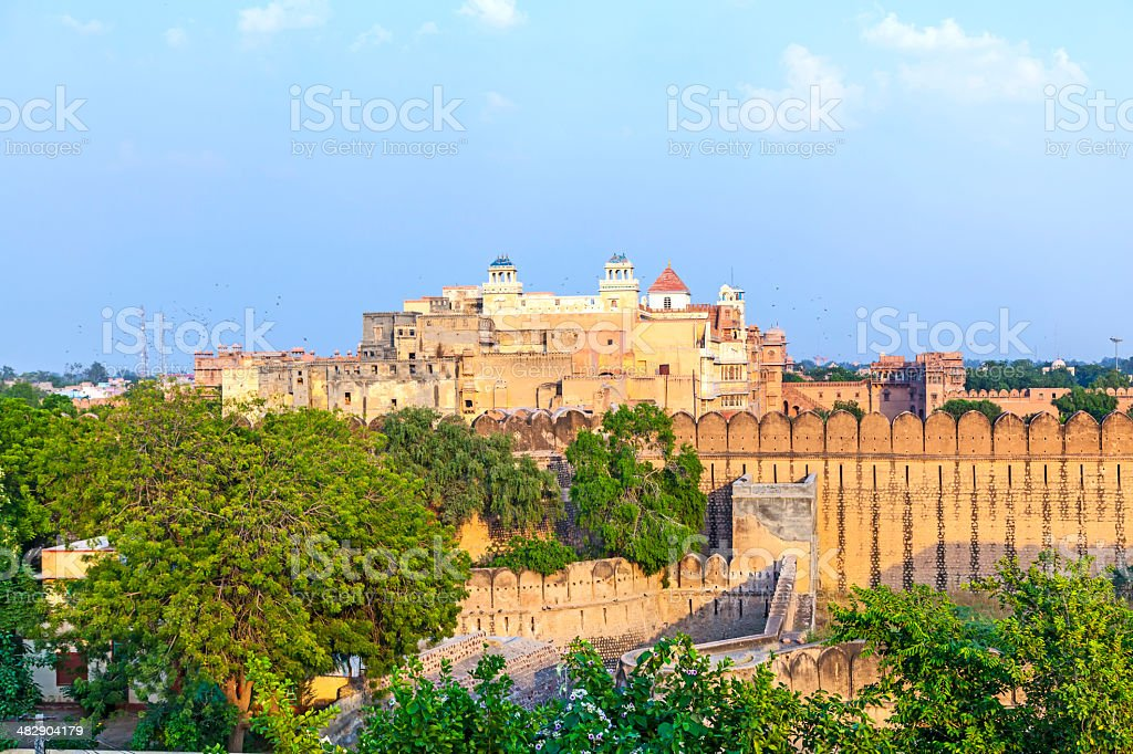 palace of the Maharajah of Bikaner inside Junagarh Fort, Bikane stock photo