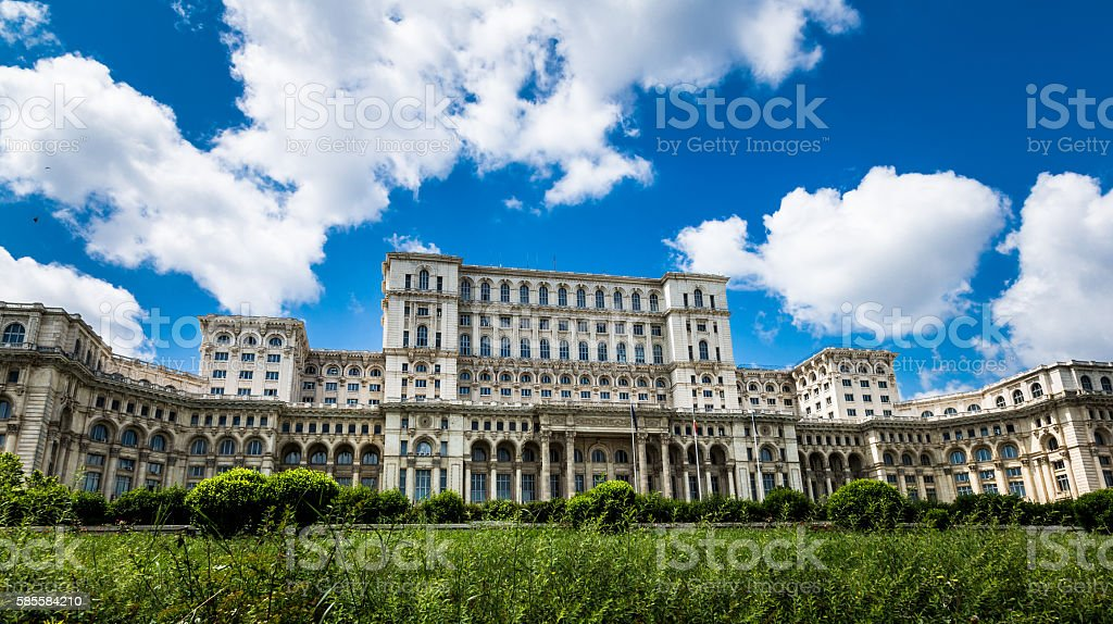 Palace of the Parliament in Bucharest, Romania stock photo
