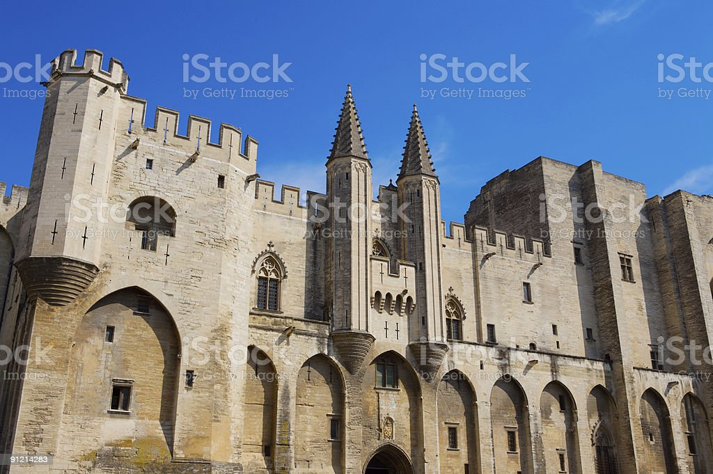Palace of the Popes Avignon Isometric royalty-free stock photo