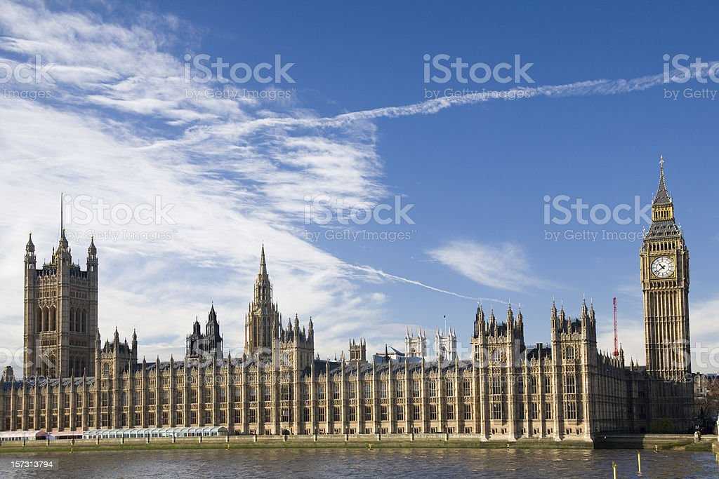 Palace of Westminster, London royalty-free stock photo