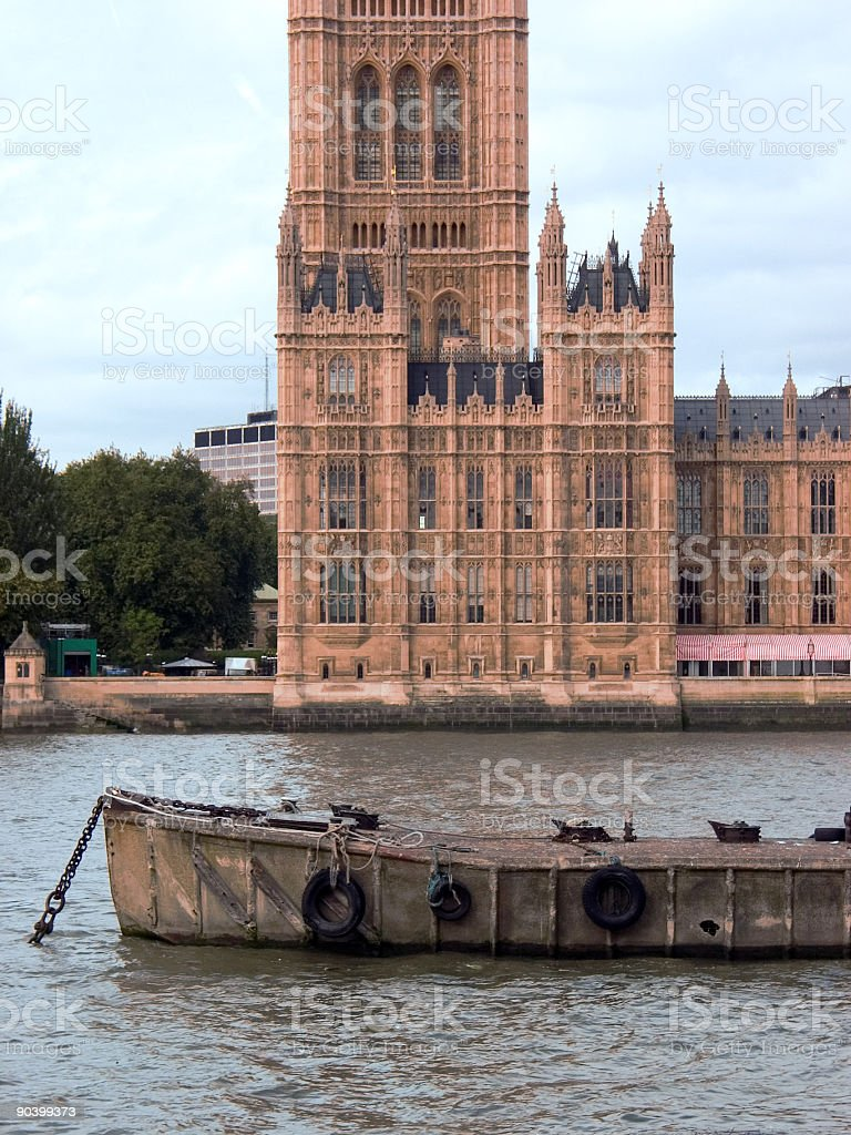 Palace of Westminster, London stock photo