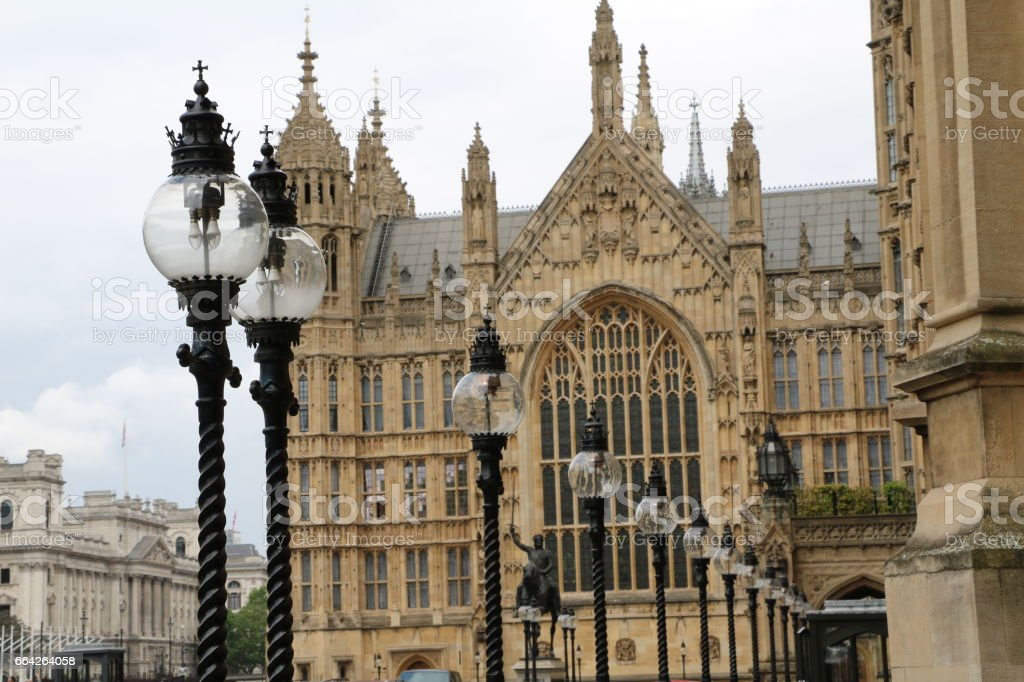 Palace of Westminster, the Westminster Hall in London, United Kingdom stock photo