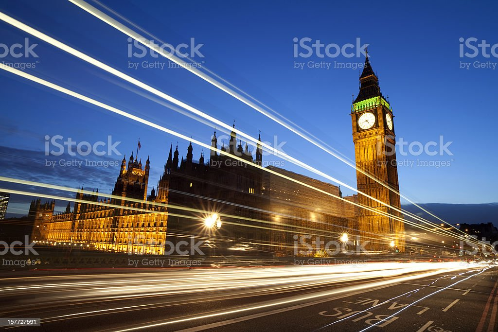 Palace Of Westminster Traffic royalty-free stock photo