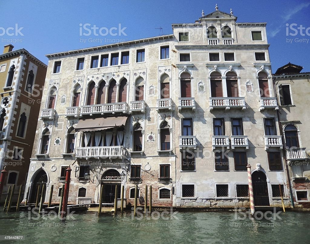 Palace on the Grand Canal Venice royalty-free stock photo