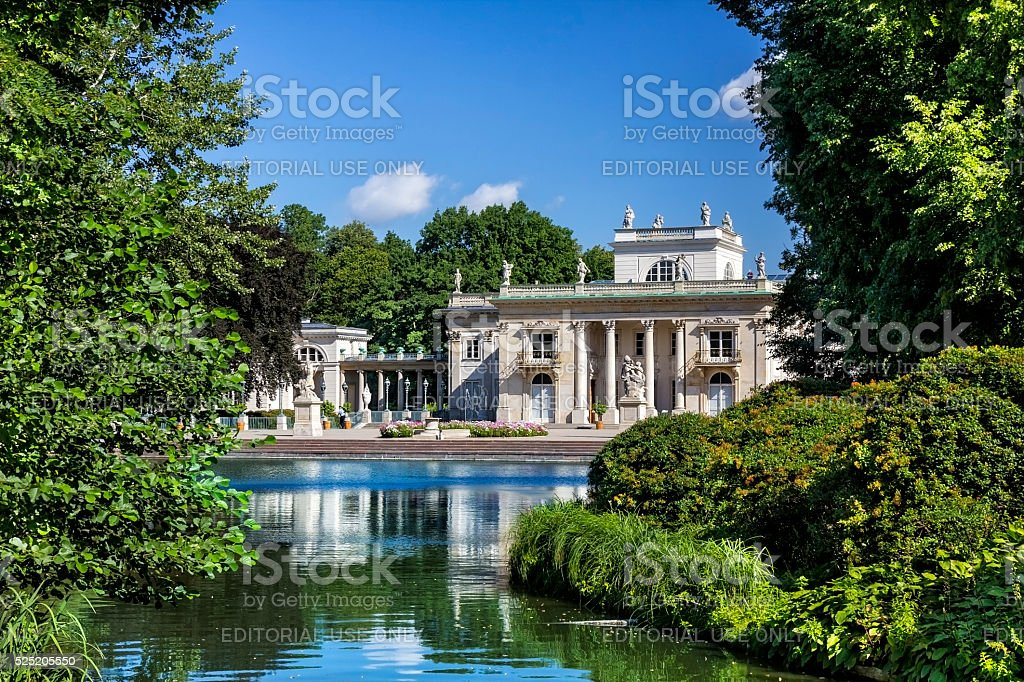 Palace on the Water, Warsaw, Poland stock photo