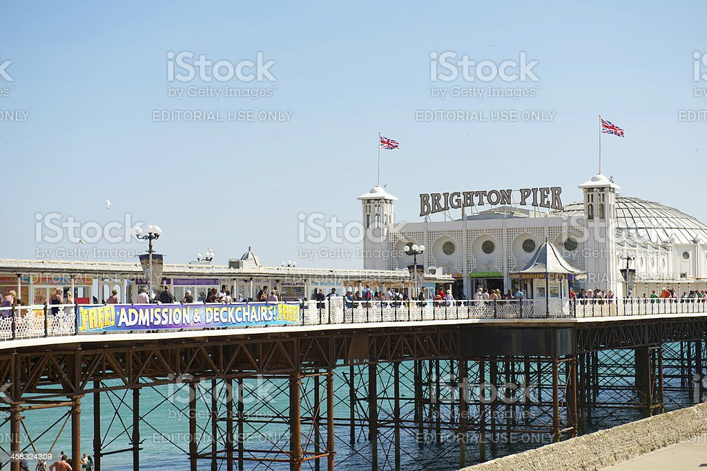 Palace Pier, Brighton, East Sussex, UK stock photo
