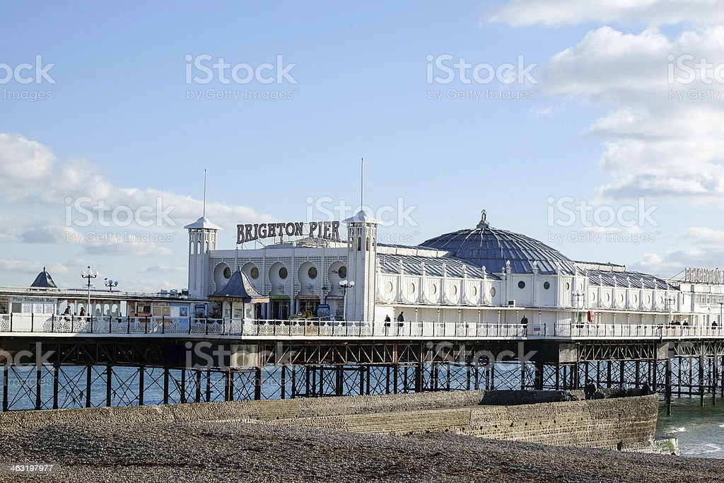 Palace Pier in Brighton, East Sussex, UK stock photo