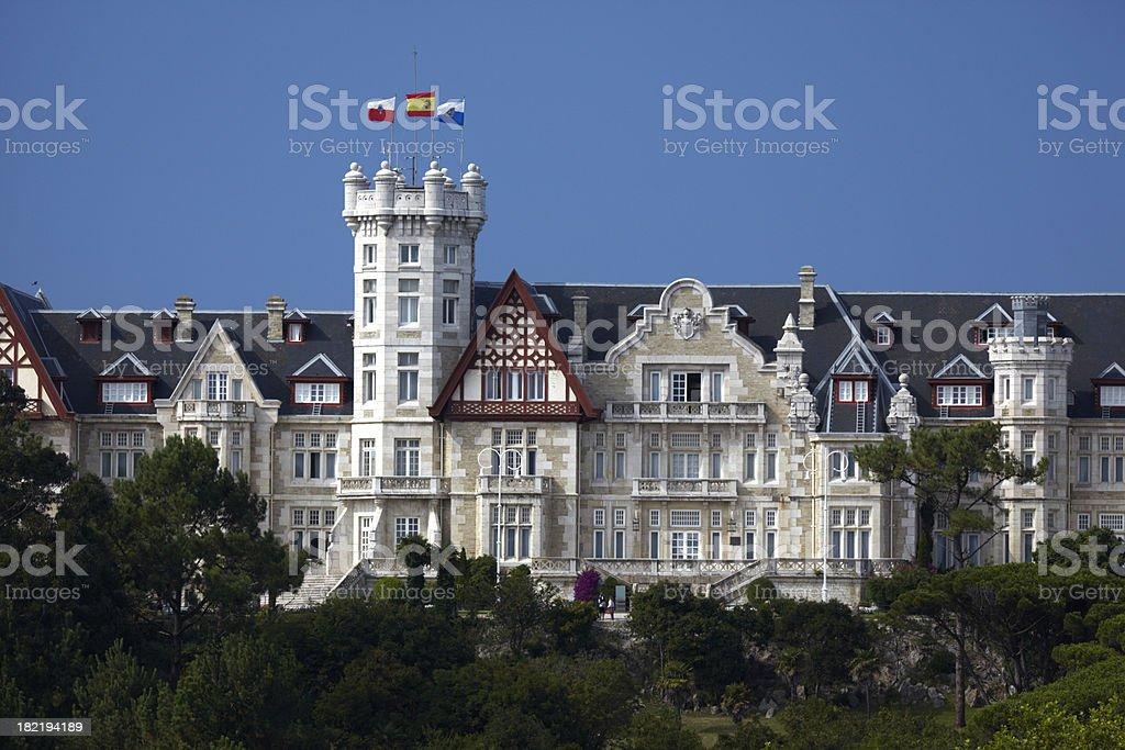 Palace, Santander, Cantabria, Northern Spain stock photo