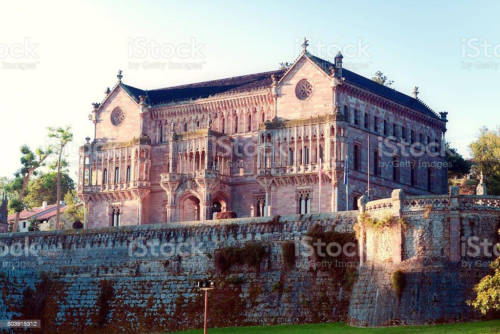 Palace Sobrellano, Comillas, Cantabria, Spine stock photo