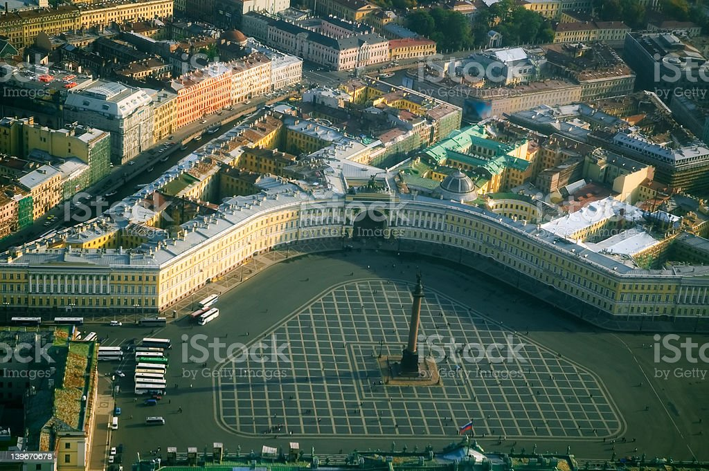 Palace Square and the Alexander Column royalty-free stock photo