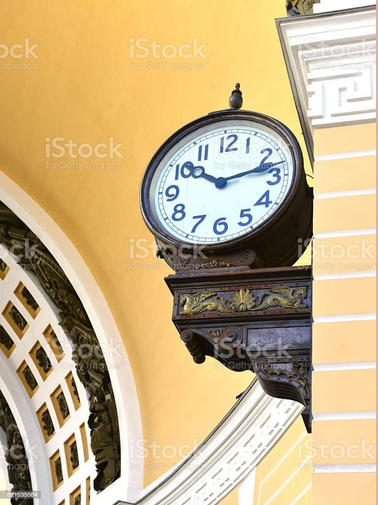 Palace  square  chiming clock stock photo