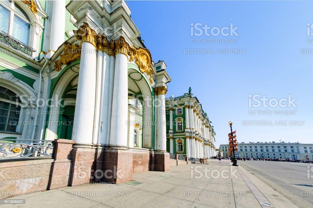 Palace Square, Hermitage Museum. Saint-Petersburg stock photo