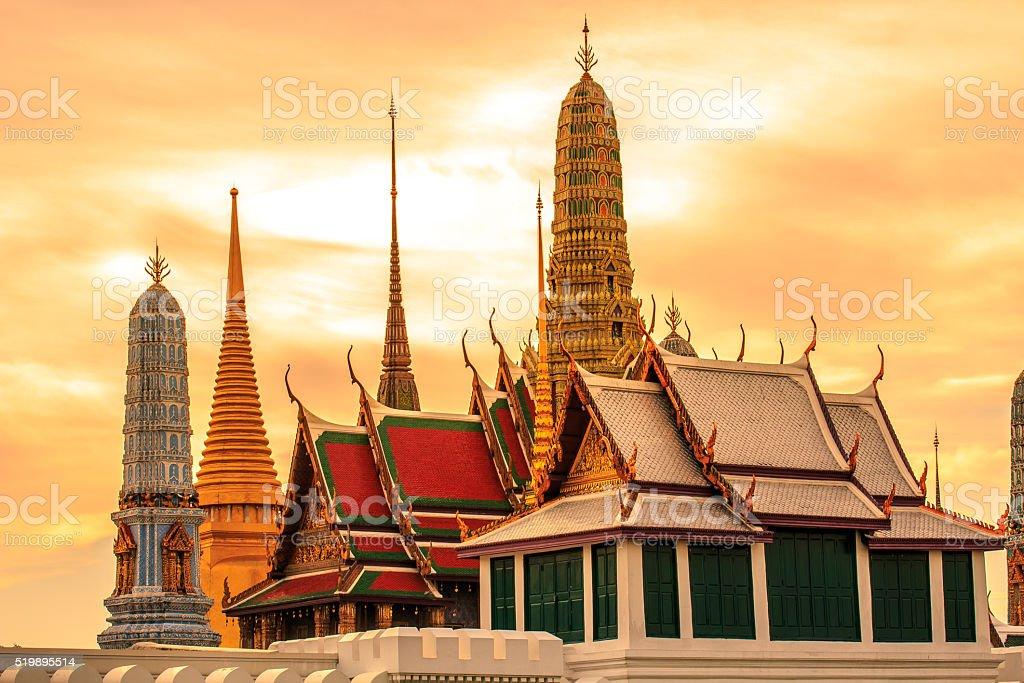 Palace Thailand stock photo