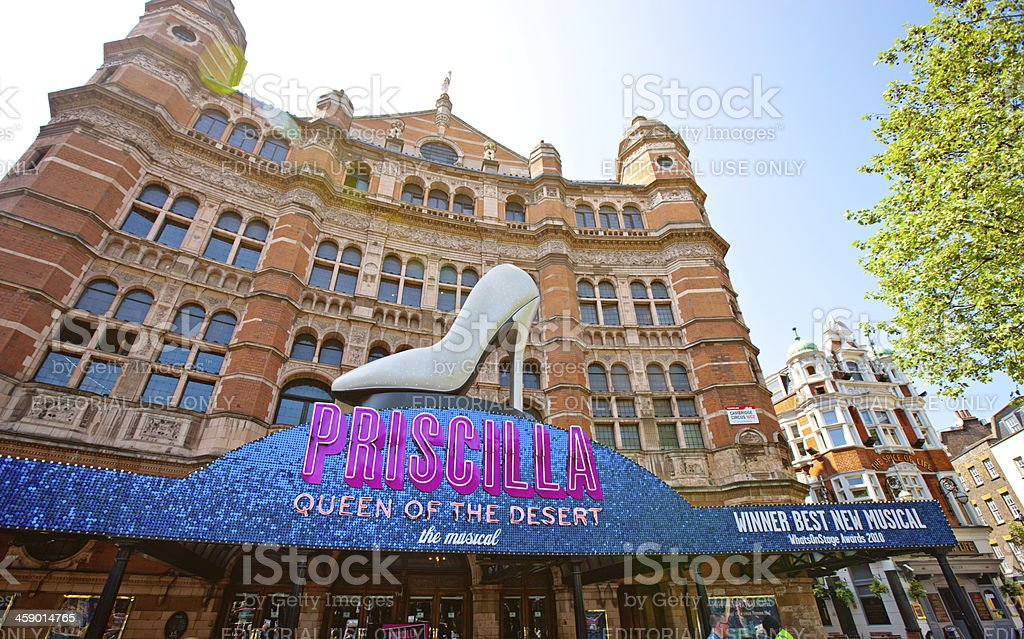 Palace Theatre Entrance With Famous Musical announcement royalty-free stock photo