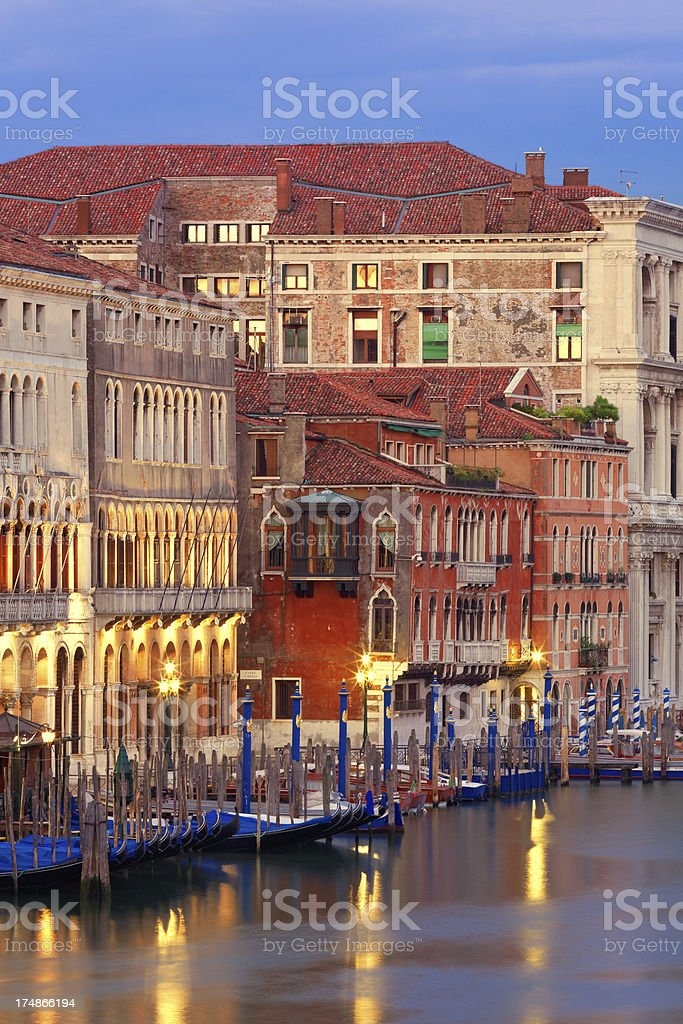 Palaces and gondolas royalty-free stock photo