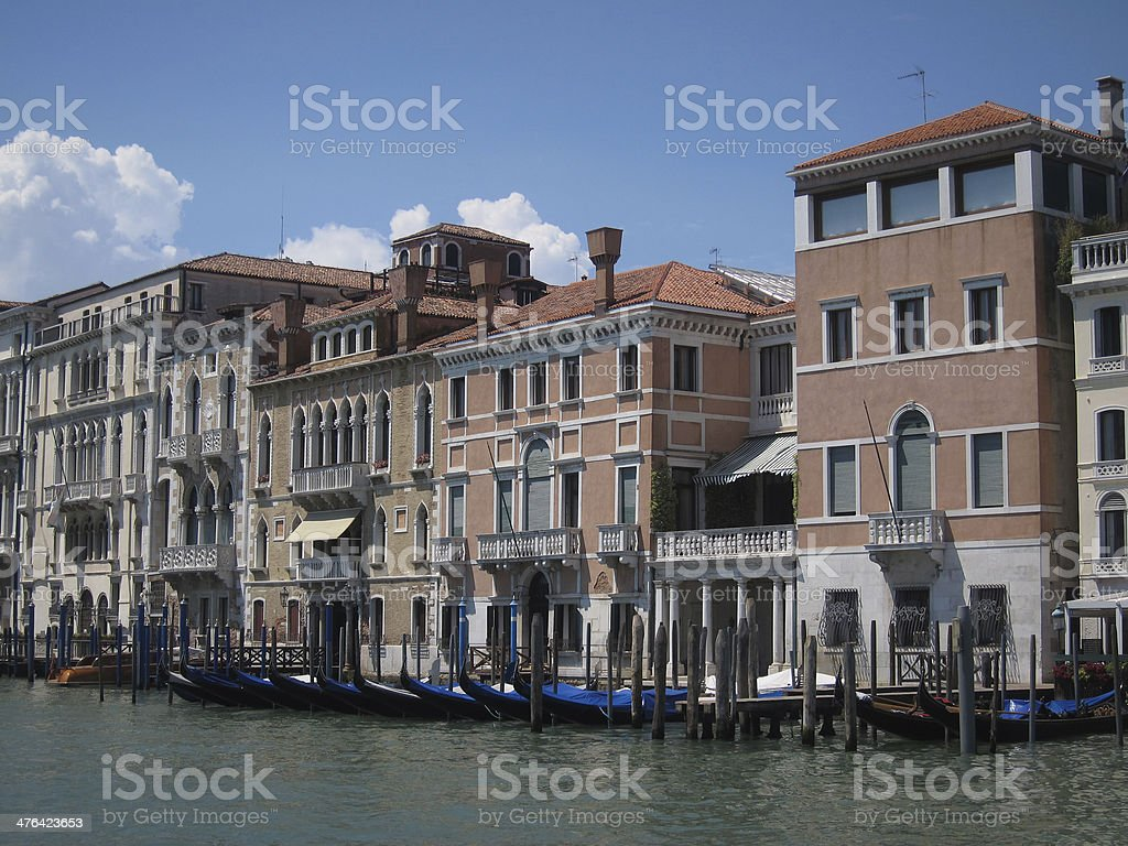 Palaces at the Canal Grande in Venice. royalty-free stock photo