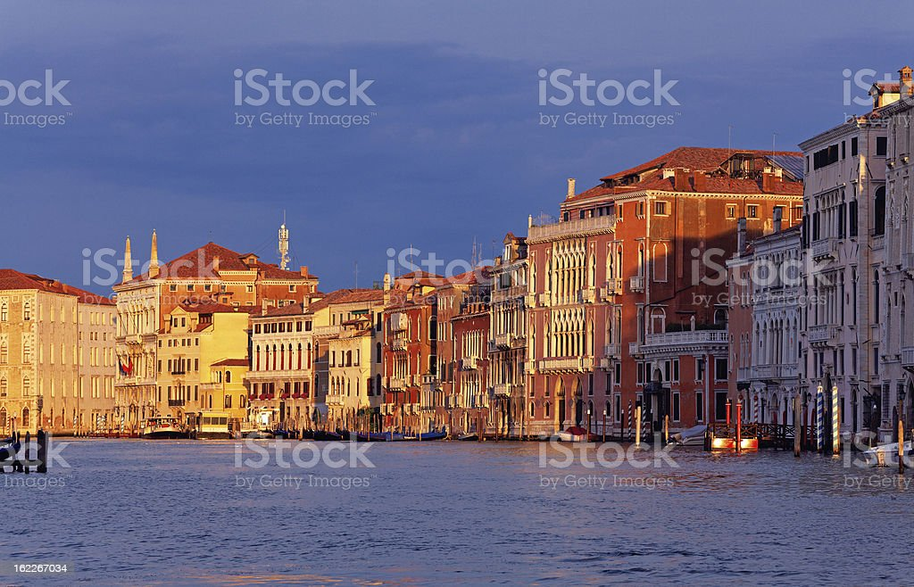 Palaces at the Grand Canal of Venice royalty-free stock photo