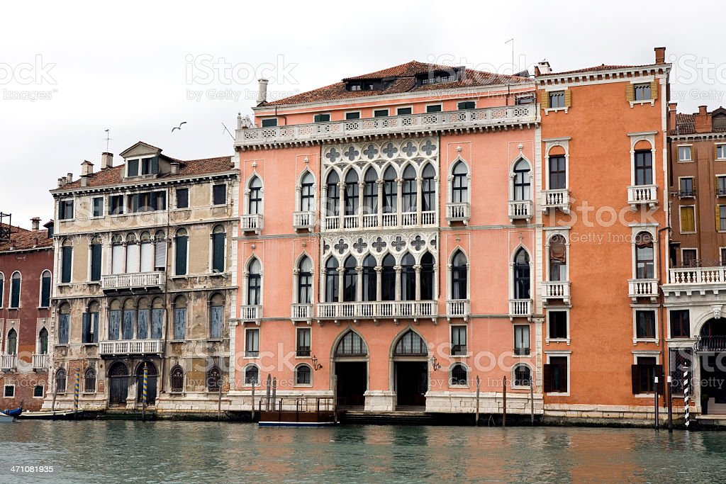 Palaces on Grand Canal Venice Italy royalty-free stock photo