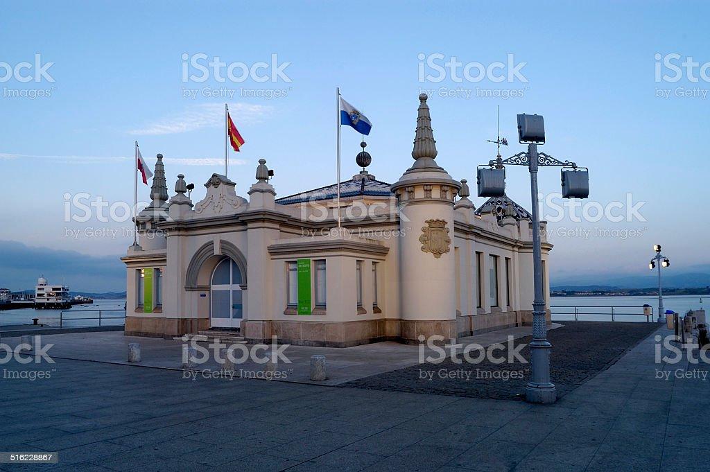 Palacete del Embarcadero, Santander,Cantabria stock photo