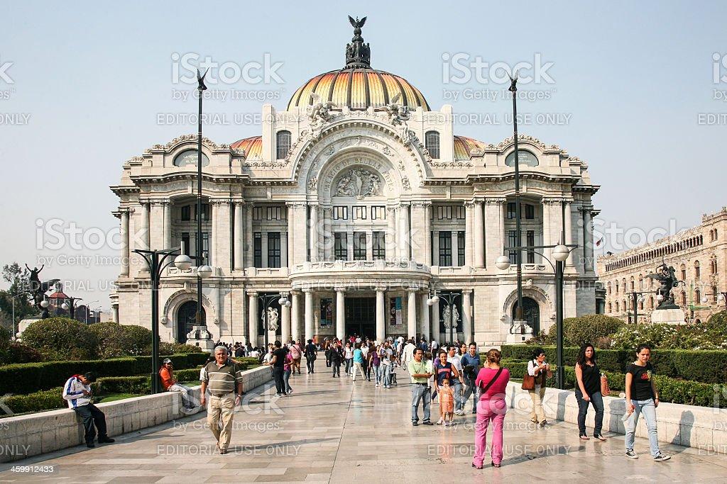 Palacio de Bellas Artes in Mexico City, Mexico. stock photo