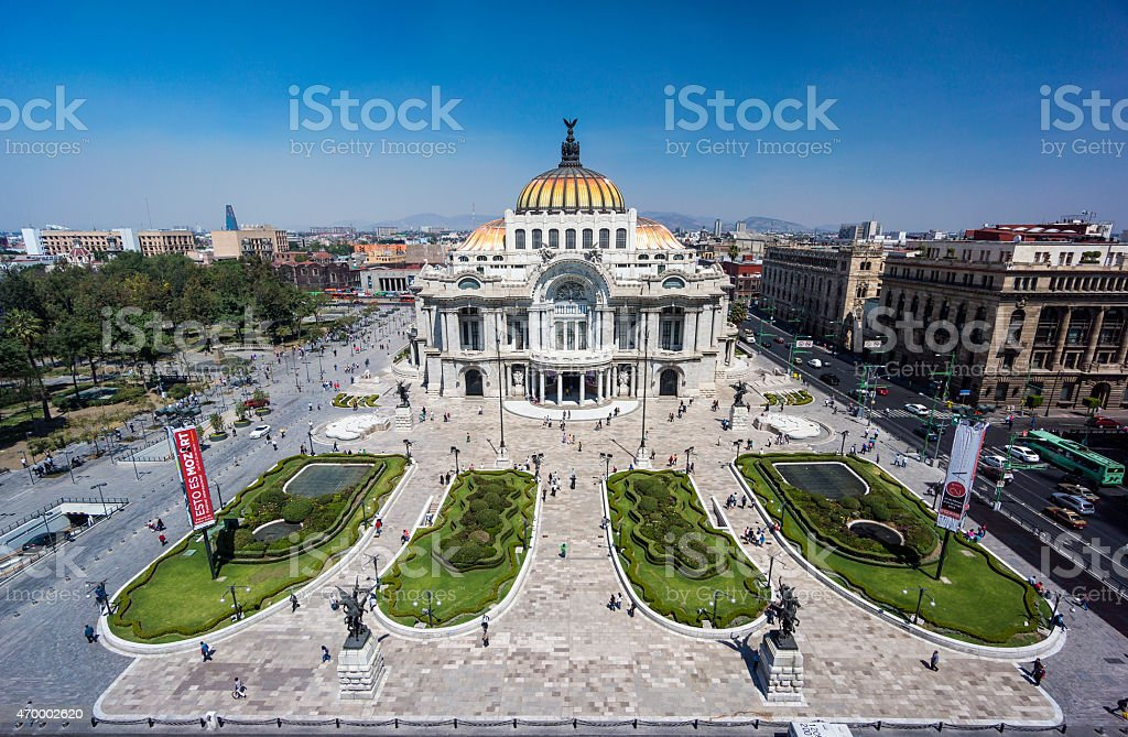 Palacio De Bellas Artes In Mexico City, Mexico stock photo