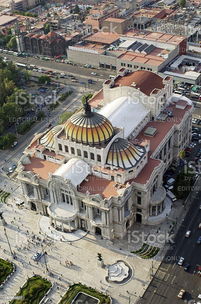 Palacio de Bellas Artes in Mexico City royalty-free stock photo