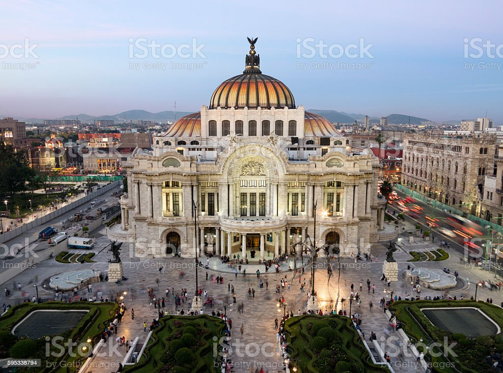 Palacio de Bellas Artes in Mexico City stock photo