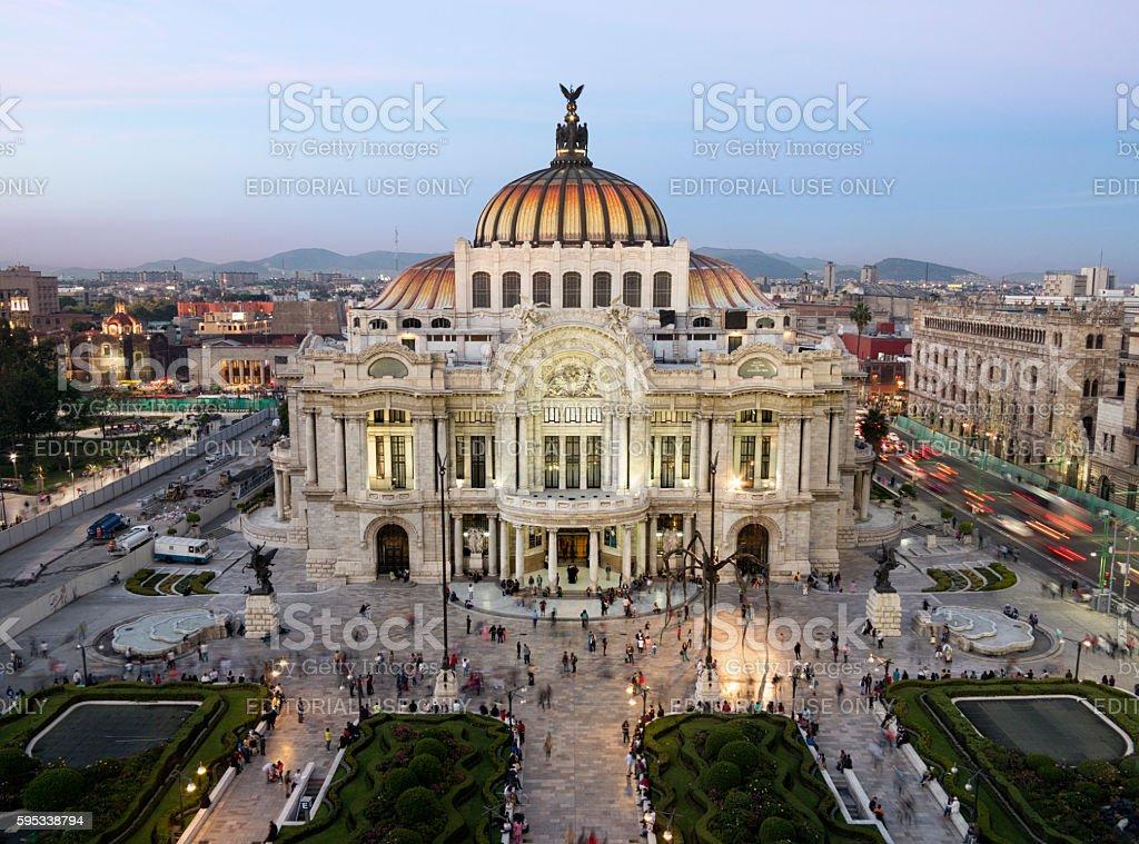 Palacio de Bellas Artes in Mexico City stock photo