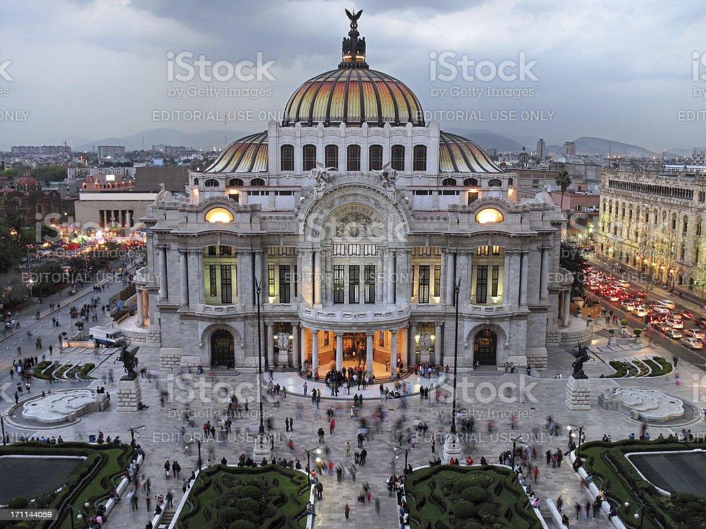 Palacio de Bellas Artes, Mexico City royalty-free stock photo