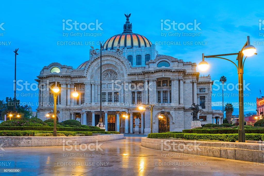 Palacio de Bellas Artes Mexico City stock photo
