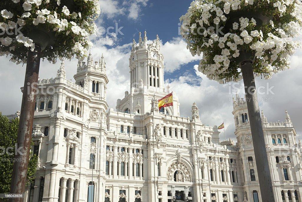 Palacio de Cibeles, Madrid, Spain royalty-free stock photo