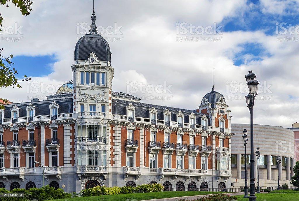 Palacio del Senado, Madrid stock photo