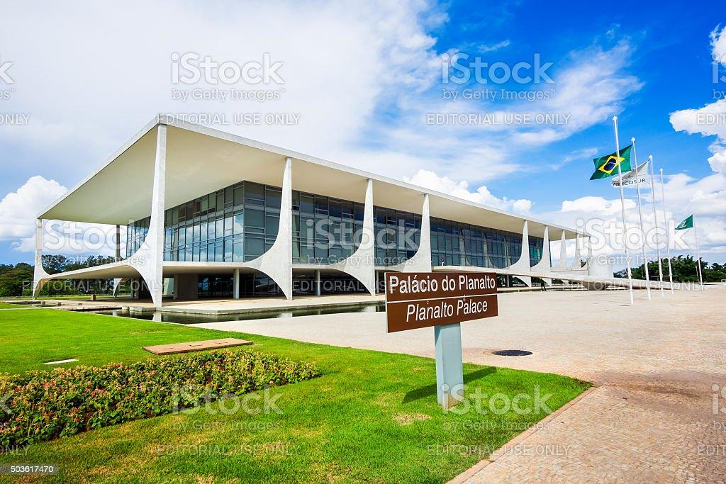 Palacio do Planalto (Planalto Palace) in Brasilia, Brazil stock photo