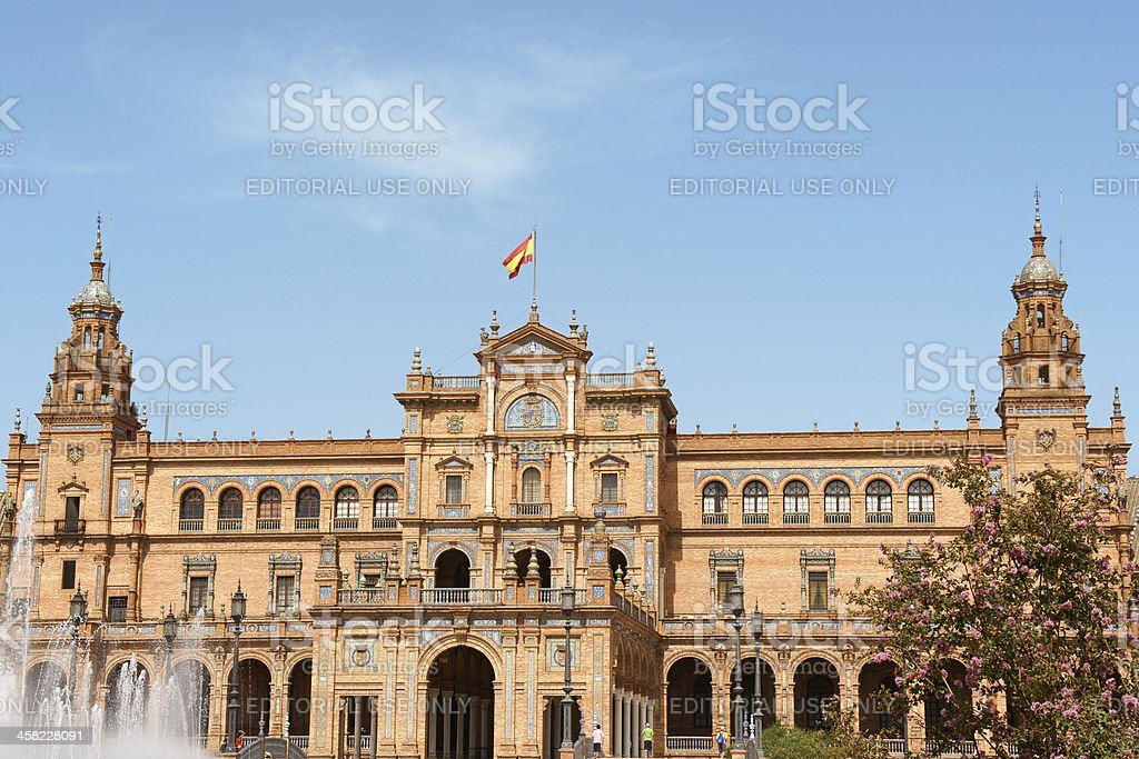 Palacio Espanol in Seville, Spain royalty-free stock photo