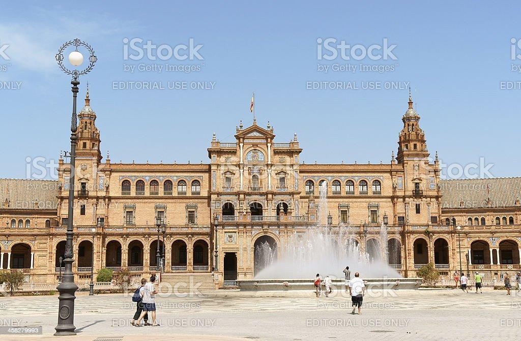 Palacio Espanol in Seville, Spain royalty-free stock photo