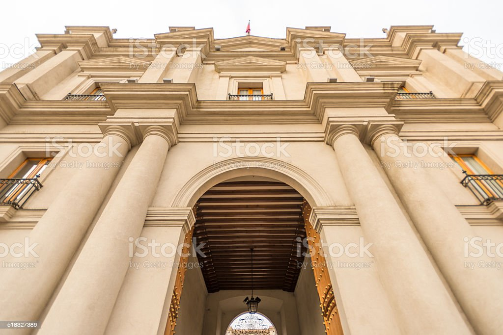 Palacio La Moneda, Chile stock photo