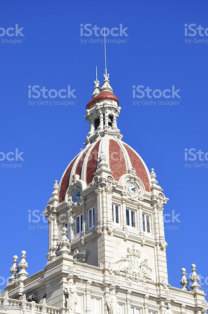 Palacio Municipal in A Coru?a stock photo