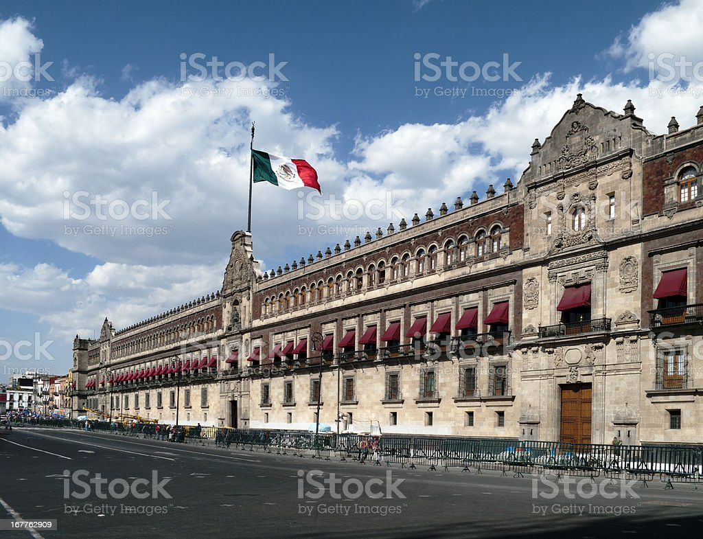 Palacio Nacional (National Palace), Mexico City royalty-free stock photo