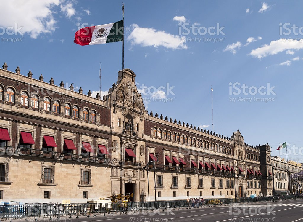 Palacio Nacional (National Palace), Mexico City stock photo