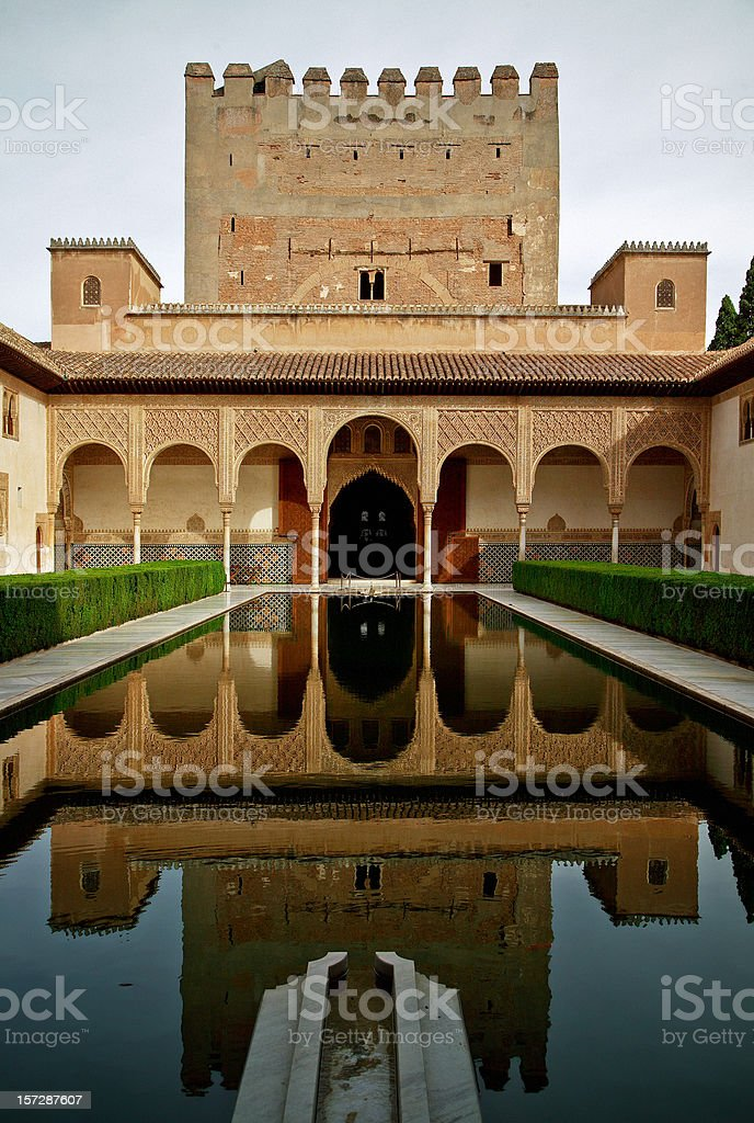 Palacio Nazaries, Alhambra, Granada stock photo