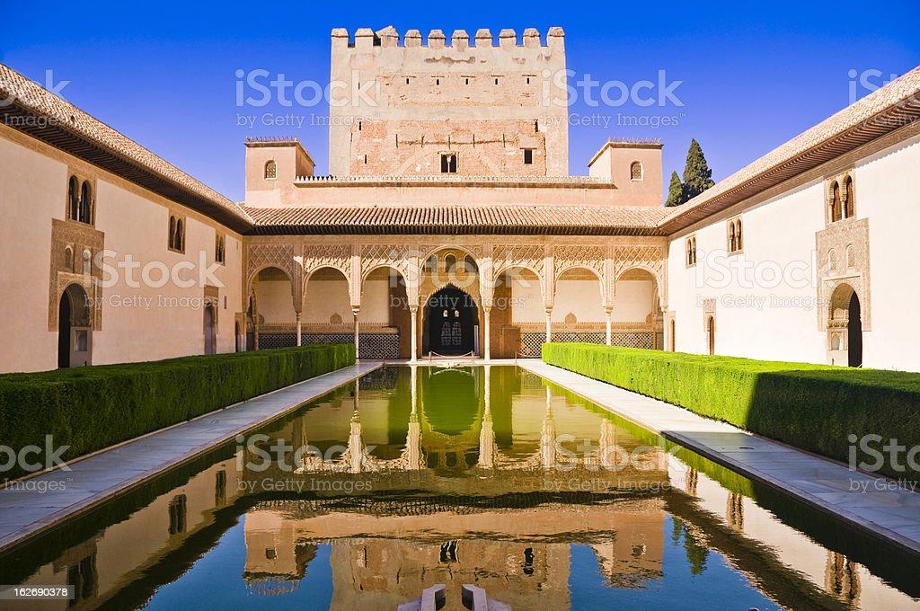 Palacios Nazaries at Alhambra in Granada, Spain stock photo