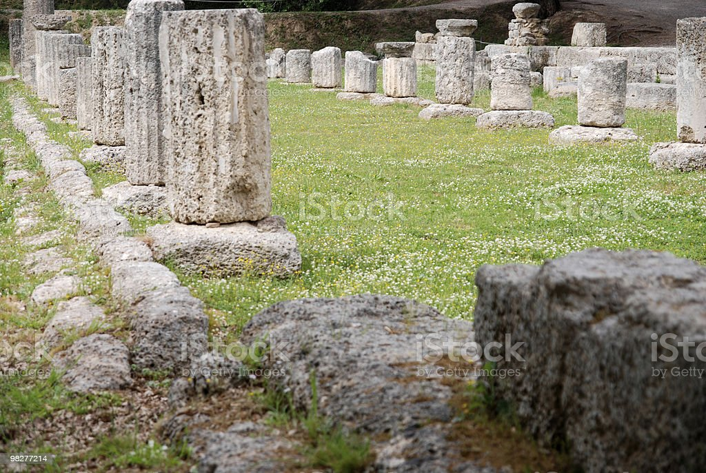 Palaestra at Ancient Olympia stock photo