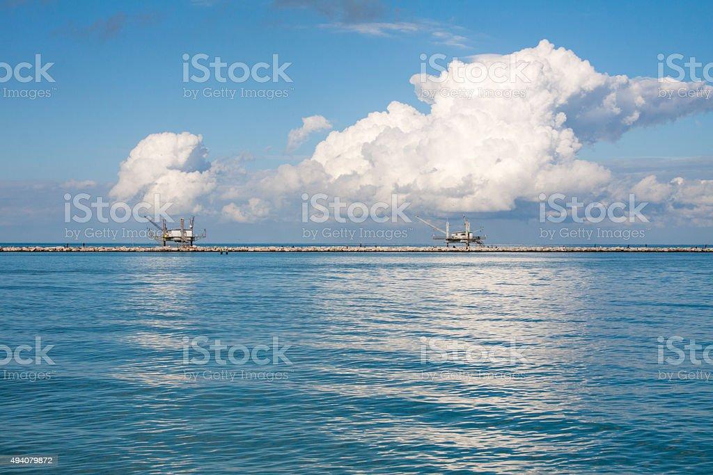 palafitte fisheries stock photo