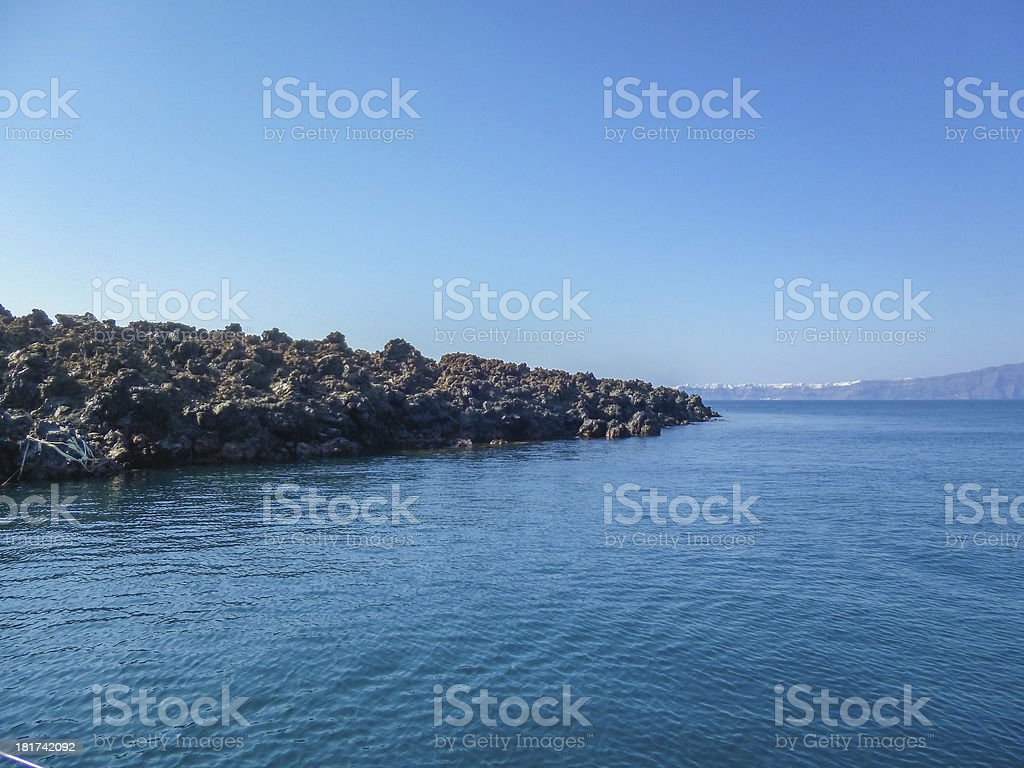 Palaia Kameni in Greece stock photo