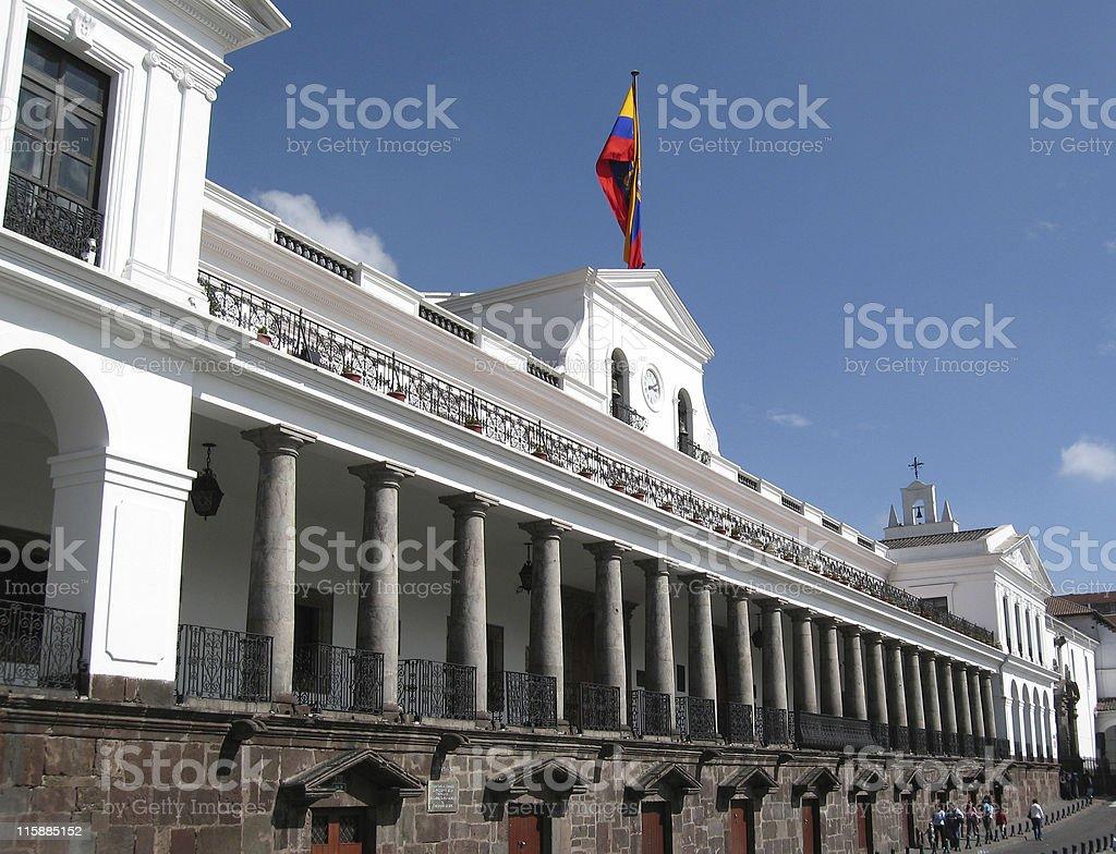 Palaico de Gobierno, Presidential Palace, Quito, Ecuador stock photo